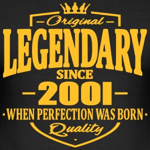 Legendary siden 2001 - Herre Slim Fit T-Shirt