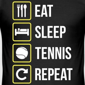 Eat Sleep Tennis Repeat - Slim Fit T-shirt herr