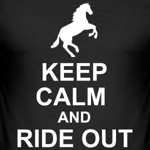 Keep Calm Horse - Slim Fit T-skjorte for menn