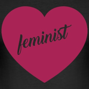 Feministisk - Herre Slim Fit T-Shirt