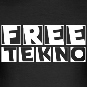 freetekno - Slim Fit T-shirt herr