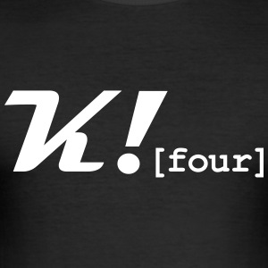 K_Four_Merch - Männer Slim Fit T-Shirt
