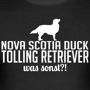 Nova Scotia Duck Tolling Retriever was sonst - Männer Slim Fit T-Shirt
