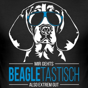 BEAGLETASTISCH Beagle - Männer Slim Fit T-Shirt