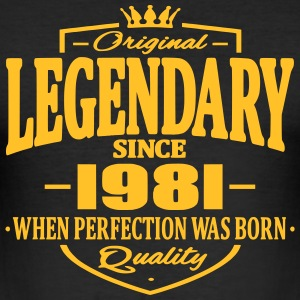 Legendary siden 1981 - Herre Slim Fit T-Shirt