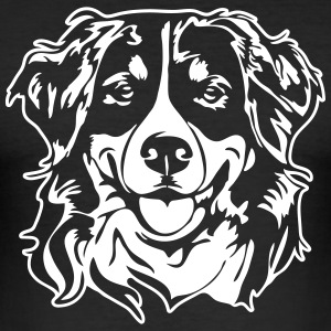 Berner Mountain hund PORTRÆT - Herre Slim Fit T-Shirt