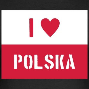 087 polska - Men's Slim Fit T-Shirt