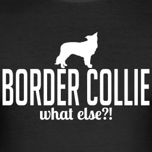 Border Collie whatelse - Herre Slim Fit T-Shirt