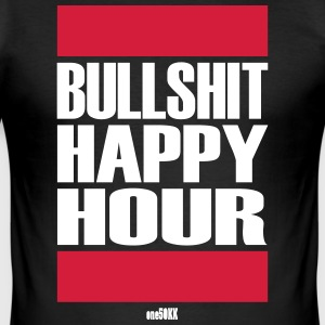 Bullshit Happy Hour - Männer Slim Fit T-Shirt