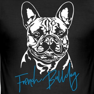 Fransk Bulldog - Herre Slim Fit T-Shirt