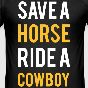 Gem en hest ride en cowboy - Herre Slim Fit T-Shirt