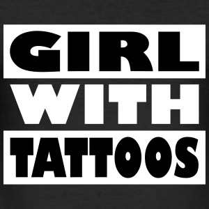 Girl with tattoos - Männer Slim Fit T-Shirt