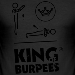King of Burpees - Tee shirt près du corps Homme