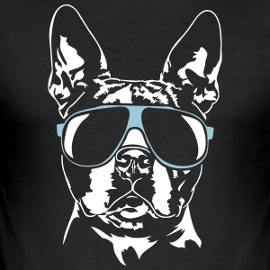 Boston Terrier koel - slim fit T-shirt