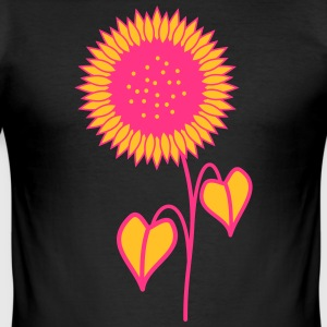 Sunflower rosa - Slim Fit T-skjorte for menn
