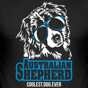 AUSTRALIAN SHEPHERD coolest dog - Männer Slim Fit T-Shirt