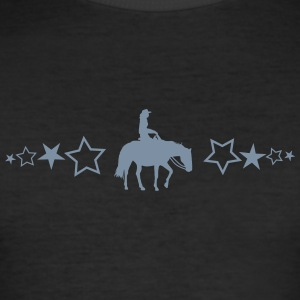 Pleasure Horse med stjerner - Slim Fit T-skjorte for menn