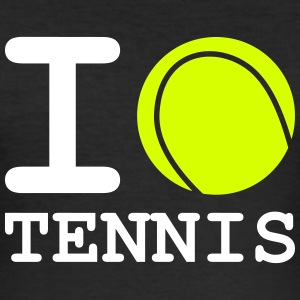 i love tennis - Men's Slim Fit T-Shirt