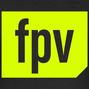 FPV (neon yellow) - Men's Slim Fit T-Shirt