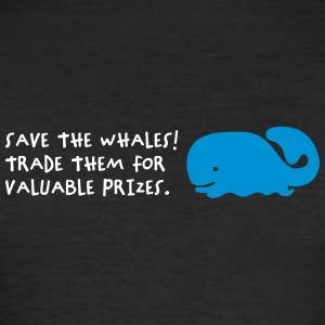 Save The Whales - Men's Slim Fit T-Shirt