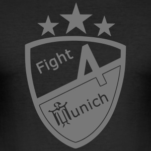 Fight 4 München - Logo - Herre Slim Fit T-Shirt