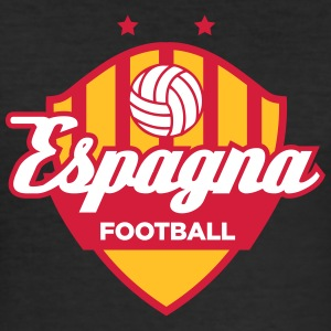 Spania Fotball Logo - Slim Fit T-skjorte for menn