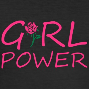 Girl power - Männer Slim Fit T-Shirt