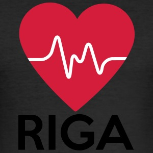 heart Riga - Men's Slim Fit T-Shirt