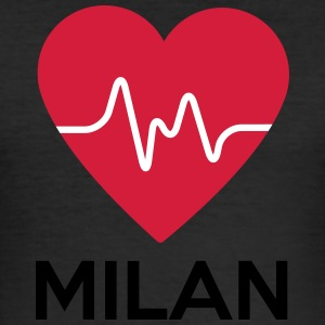 hjerte Milan - Slim Fit T-skjorte for menn