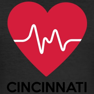heart Cincinnati - Men's Slim Fit T-Shirt