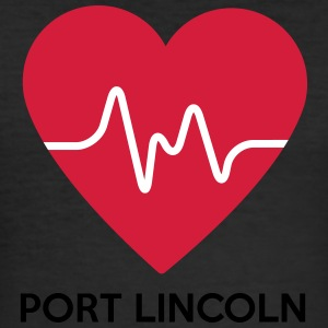 Heart Port Lincoln - Men's Slim Fit T-Shirt