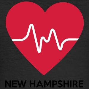 Heart New Hampshire - Men's Slim Fit T-Shirt