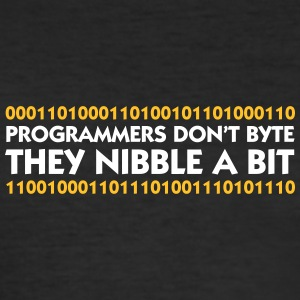Programmers Do Not Bite. They Nibble A Bit! - Men's Slim Fit T-Shirt