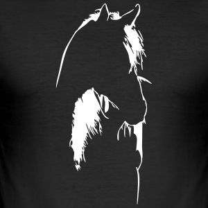 Horse in backlight - Men's Slim Fit T-Shirt