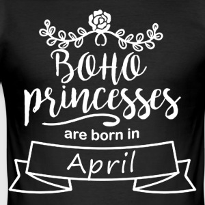 Boho Princesses are born in April - Männer Slim Fit T-Shirt