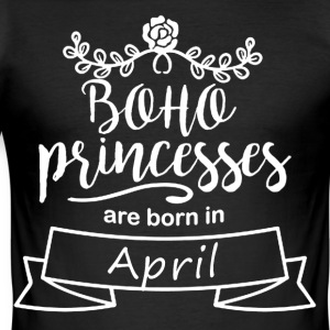 Boho Prinsessor föds i april - Slim Fit T-shirt herr