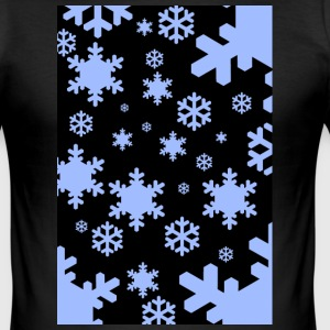 snowflakes shirt - Herre Slim Fit T-Shirt
