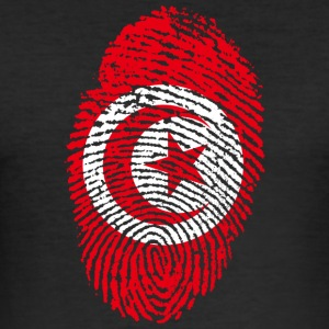Tunisia fingerprint - Men's Slim Fit T-Shirt