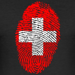 Fingerprint - Switzerland - Men's Slim Fit T-Shirt