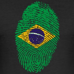 Fingeraftryk - Brasilien - Herre Slim Fit T-Shirt