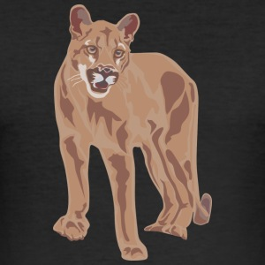 Wild cat - Männer Slim Fit T-Shirt