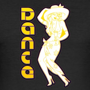 pin up danse - Slim Fit T-skjorte for menn