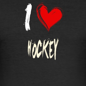 i love hockey - slim fit T-shirt