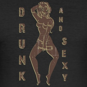 drunk and sexy vintage - Men's Slim Fit T-Shirt
