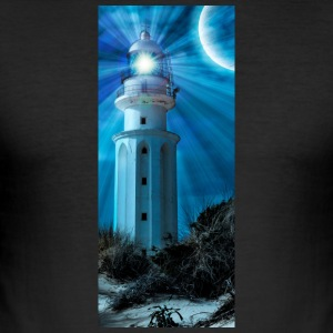 LIGHTHOUSE TRAFALGAR_NOCHE - Men's Slim Fit T-Shirt