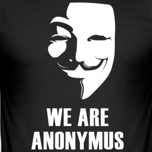anonymus we are mask demonstration white revolutio - Men's Slim Fit T-Shirt