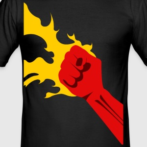Power Fist - Tee shirt près du corps Homme