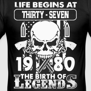 1980 födelse Legends skjorta - Slim Fit T-shirt herr