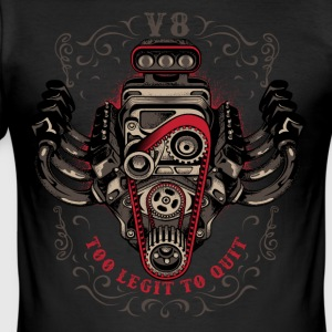 hot rod V8 - Herre Slim Fit T-Shirt