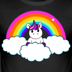 Rainbow Unicorn - Slim Fit T-skjorte for menn